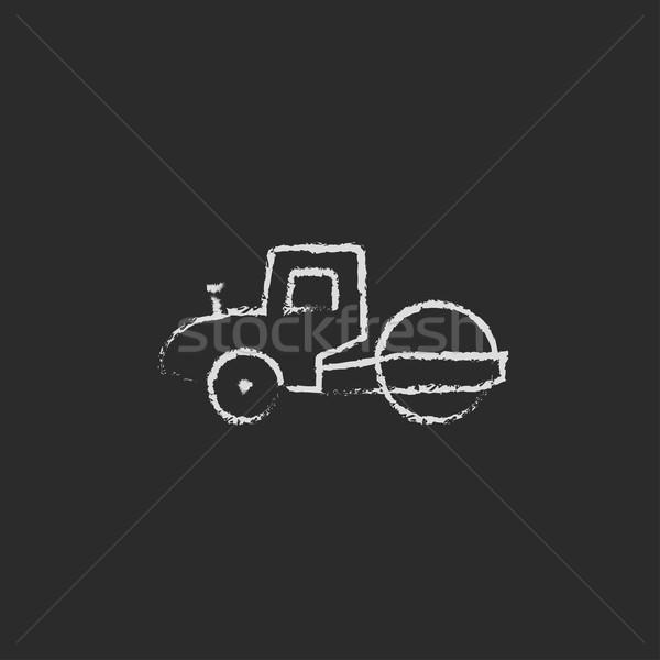 Route icône craie dessinés à la main tableau noir Photo stock © RAStudio