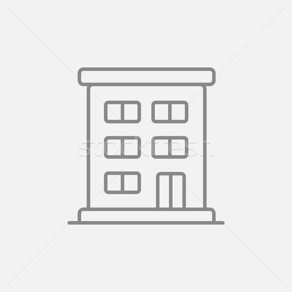 Residential building line icon. Stock photo © RAStudio