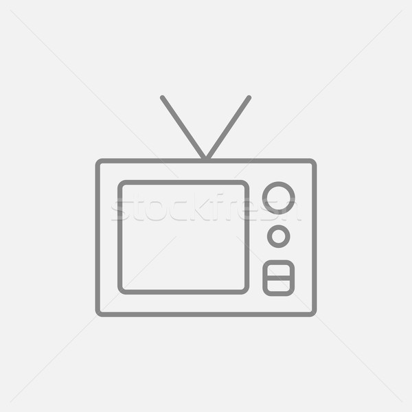Retro television line icon. Stock photo © RAStudio