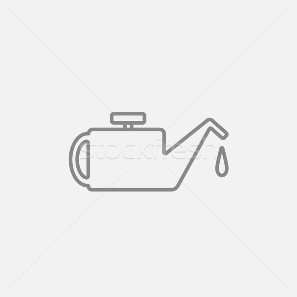 Lijn icon web mobiele infographics vector Stockfoto © RAStudio