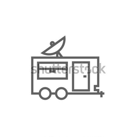 Karavan hat ikon web hareketli Stok fotoğraf © RAStudio