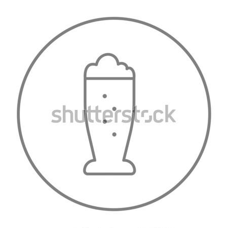 Glass of beer line icon. Stock photo © RAStudio