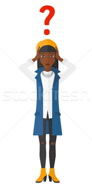 Bankrupt clutching her head. Stock photo © RAStudio