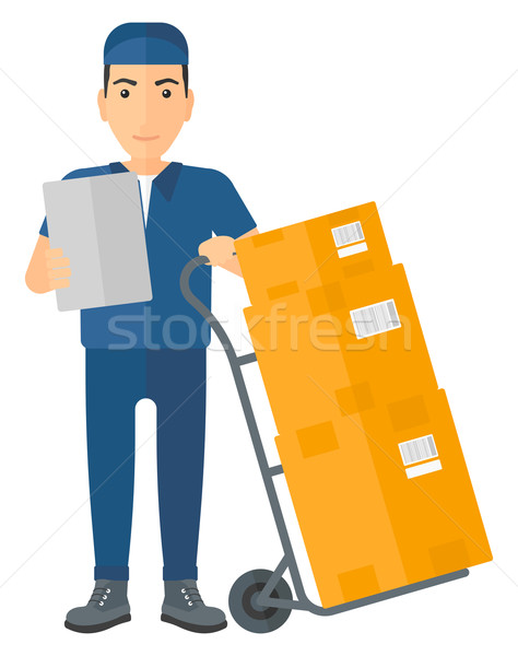 Man delivering boxes. Stock photo © RAStudio