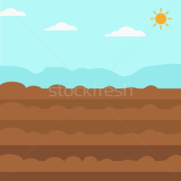 Background of plowed agricultural field. Stock photo © RAStudio