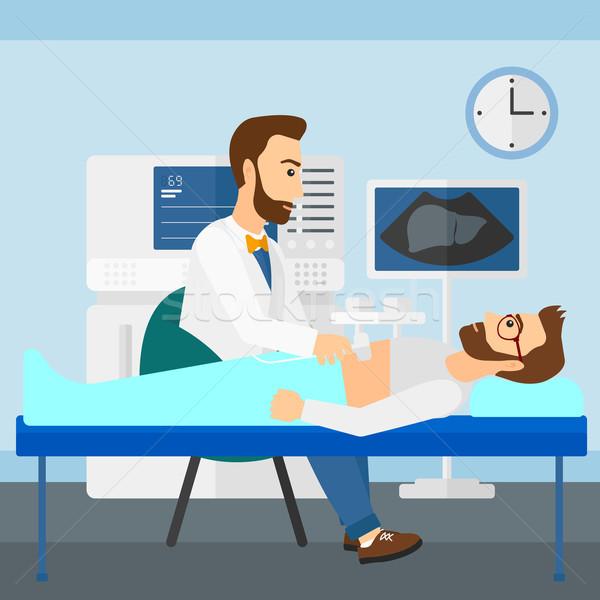 Patient under ultrasound examination. Stock photo © RAStudio