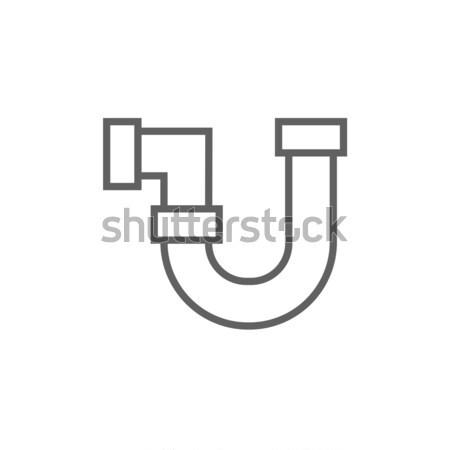 Ranny dłoni line ikona internetowych komórkowych Zdjęcia stock © RAStudio