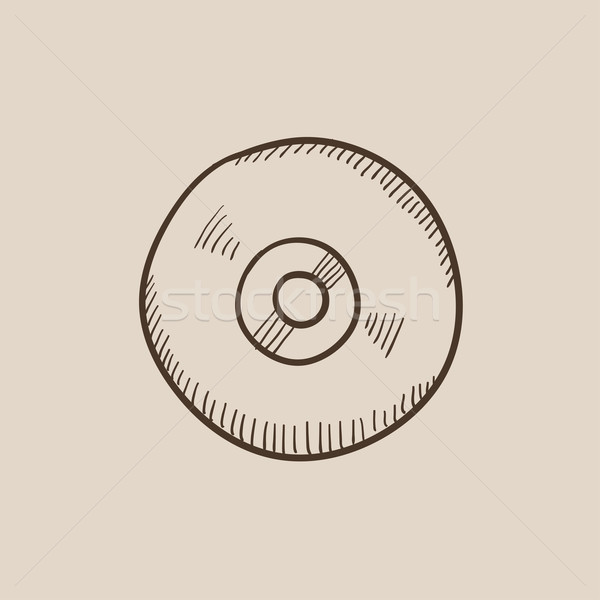 Reel tape deck player recorder sketch icon. Stock photo © RAStudio