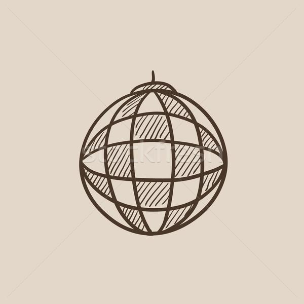 Disco ball schets icon web mobiele infographics Stockfoto © RAStudio
