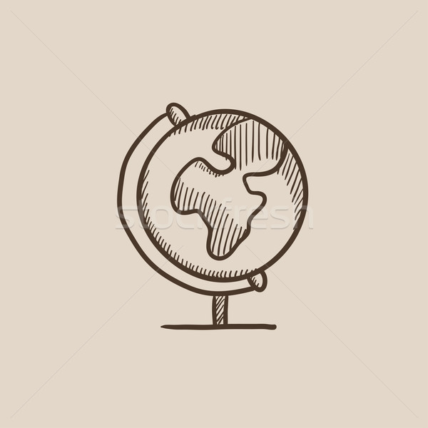 World globe on stand sketch icon. Stock photo © RAStudio