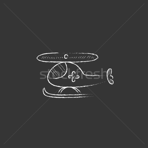 Air ambulance . Drawn in chalk icon. Stock photo © RAStudio