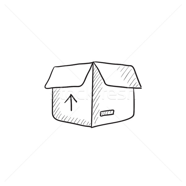 Carton package box sketch icon. Stock photo © RAStudio