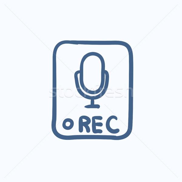 Record button sketch icon. Stock photo © RAStudio