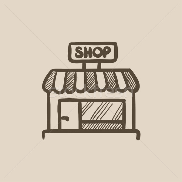 Shop store sketch icon. Stock photo © RAStudio