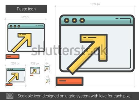 Kód frissítés vonal ikon vektor izolált Stock fotó © RAStudio