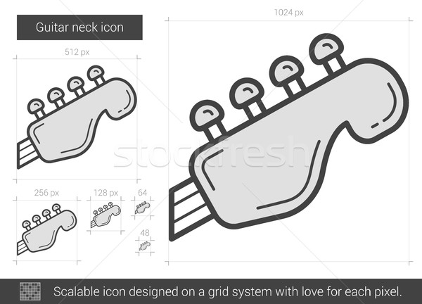 Guitar neck line icon. Stock photo © RAStudio