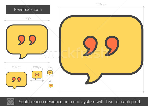 Feedback line icon. Stock photo © RAStudio