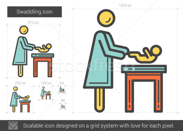 Swaddling line icon. Stock photo © RAStudio