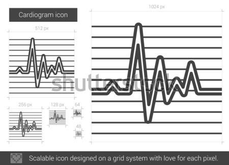 Cardiograma linha ícone vetor isolado branco Foto stock © RAStudio