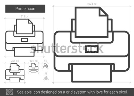 Transform tool line icon. Stock photo © RAStudio