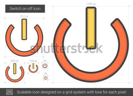 Switch on off line icon. Stock photo © RAStudio