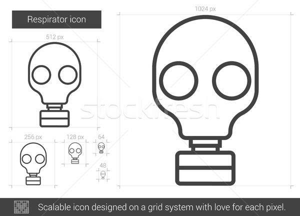 Respirator line icon. Stock photo © RAStudio
