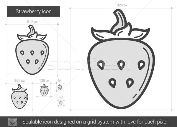 Strawberry line icon. Stock photo © RAStudio