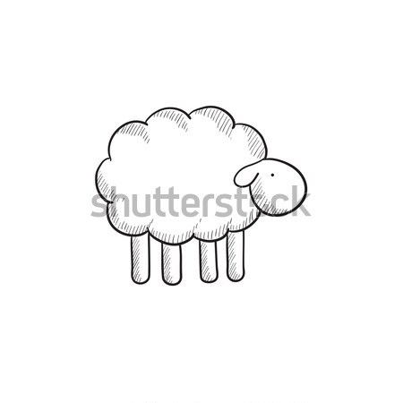 Sheep sketch icon. Stock photo © RAStudio