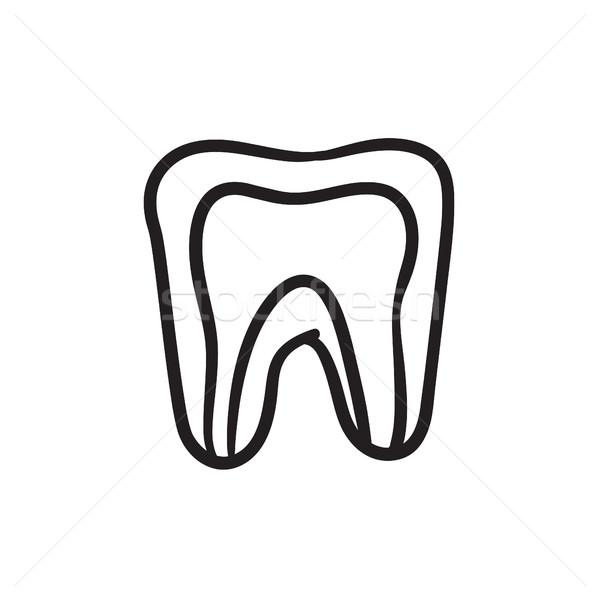 Molar tooth sketch icon. Stock photo © RAStudio