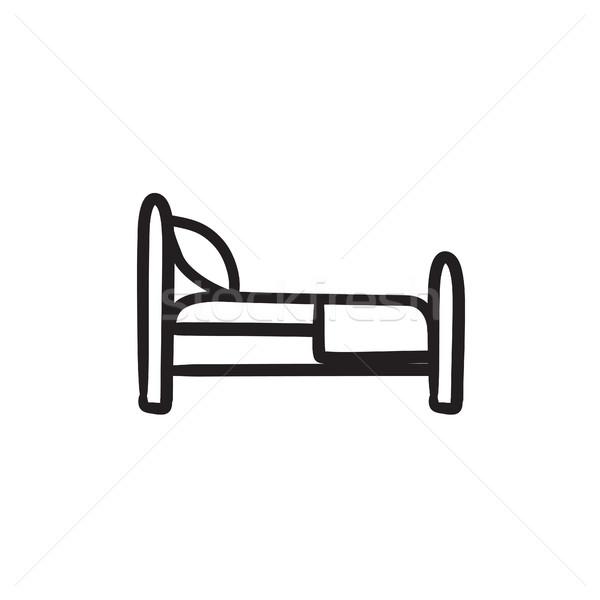 Bed sketch icon. Stock photo © RAStudio
