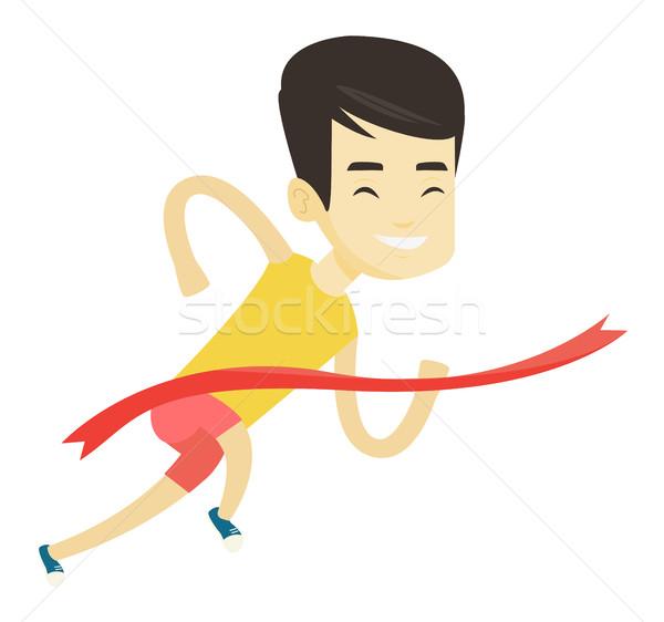 選手 幸せ アジア スポーツマン を実行して ストックフォト © RAStudio