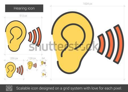 Hearing line icon. Stock photo © RAStudio