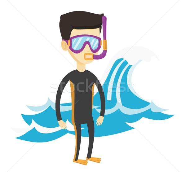 Jonge asian man duiken pak Stockfoto © RAStudio