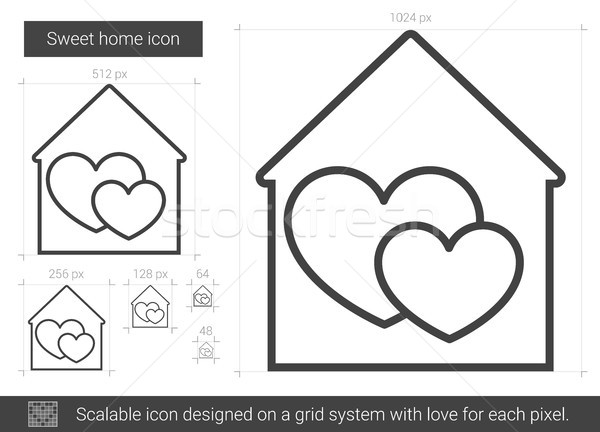 Sweet home line icon. Stock photo © RAStudio
