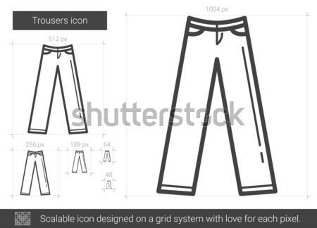 Calças linha ícone vetor isolado branco Foto stock © RAStudio