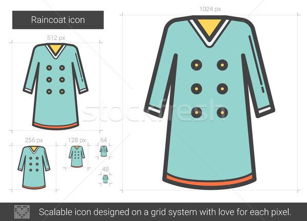 Regenjas lijn icon vector geïsoleerd witte Stockfoto © RAStudio