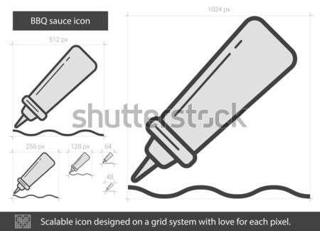 BBQ sauce line icon. Stock photo © RAStudio