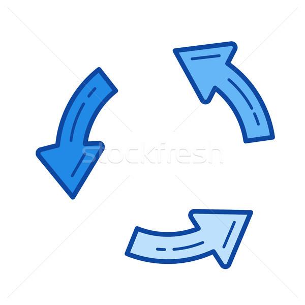 Aktualisieren line Symbol Vektor isoliert weiß Stock foto © RAStudio