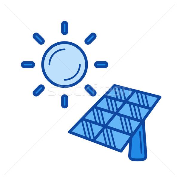 太陽エネルギー 行 アイコン ベクトル 孤立した 白 ストックフォト © RAStudio