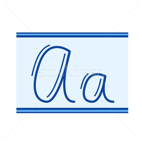 Handwriting line icon. Stock photo © RAStudio