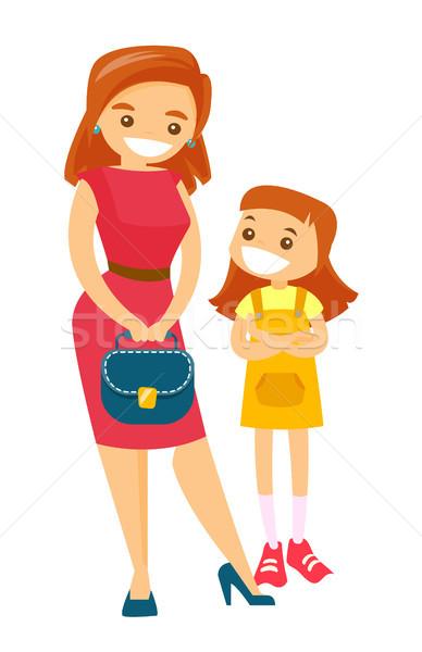 Сток-фото: молодые · кавказский · белый · женщину · сумочка