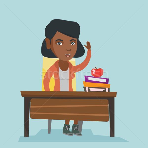 Estudante mão classe responder sessão secretária Foto stock © RAStudio