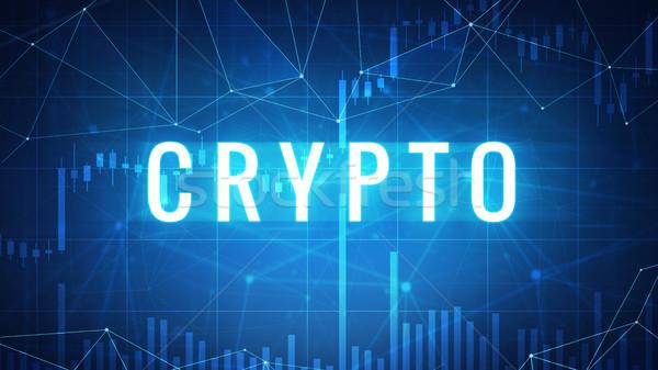 слово футуристический баннер Фондовый рынок диаграммы многоугольник Сток-фото © RAStudio