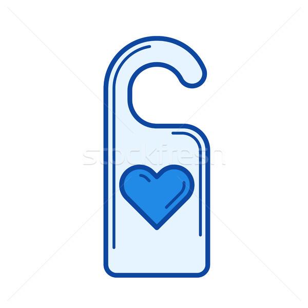 Drzwi wieszak line ikona wektora odizolowany Zdjęcia stock © RAStudio