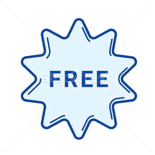 Free sticker line icon. Stock photo © RAStudio