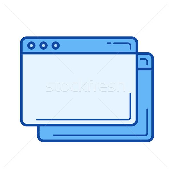 Copy tab line icon. Stock photo © RAStudio