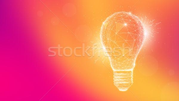 Polígono idea bombilla borroso gradiente Foto stock © RAStudio