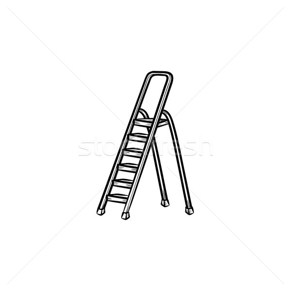 Stepladder hand drawn sketch icon. Stock photo © RAStudio
