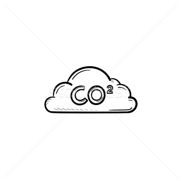 CO2 cloud hand drawn sketch icon. Stock photo © RAStudio