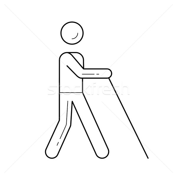 Blind cane line icon. Stock photo © RAStudio